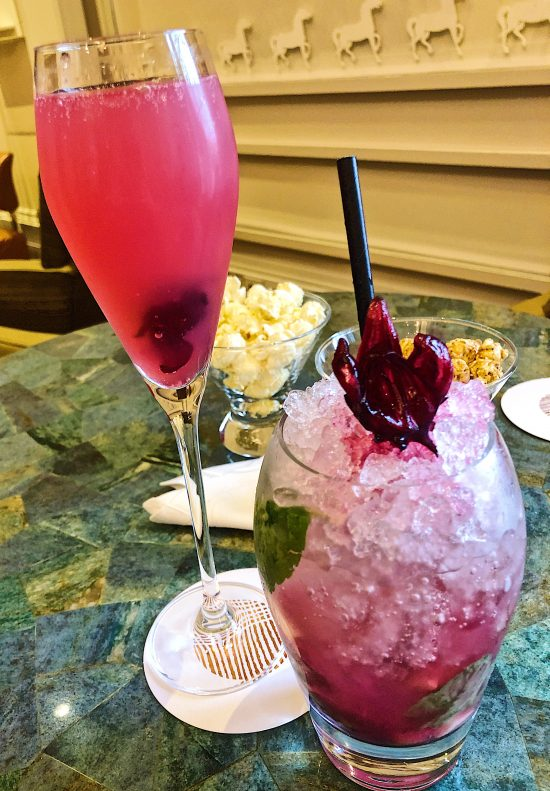 Hibiscus Mocktail at Coworth Park, Ascot, UK