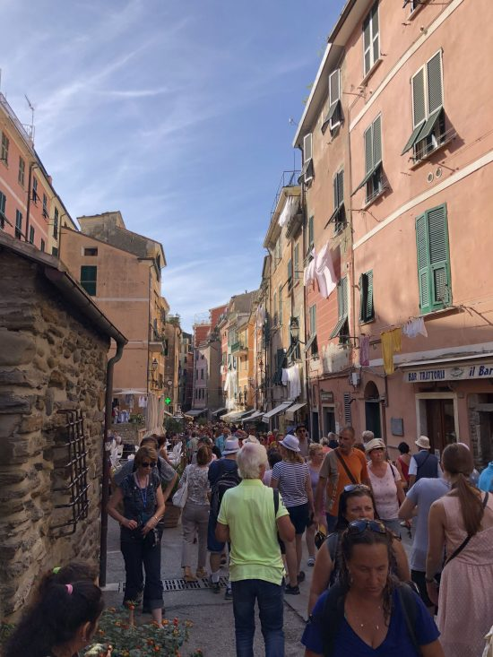 Crowded Streets of Vernazza. Cinque Terre, Italy
