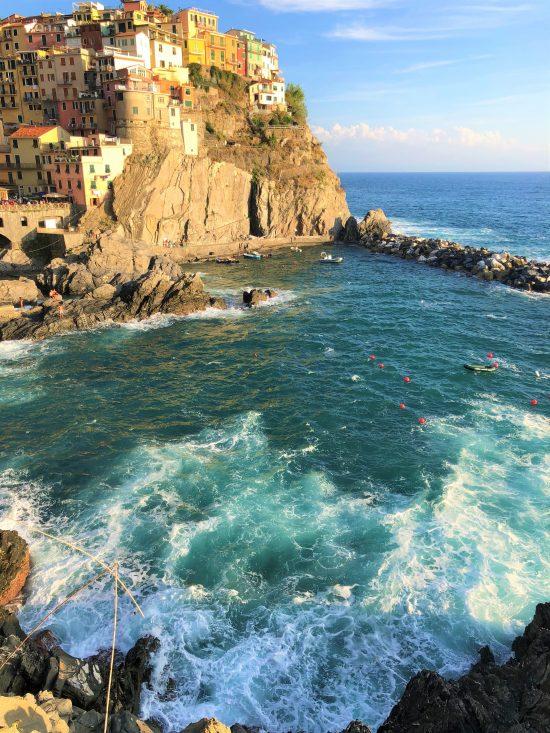 Coastline of Manarola, Cinque Terre, Italy