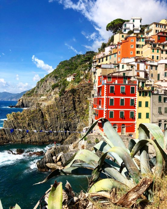 Colourful Buildings of Riomaggoire, Cinque Terre, Italy