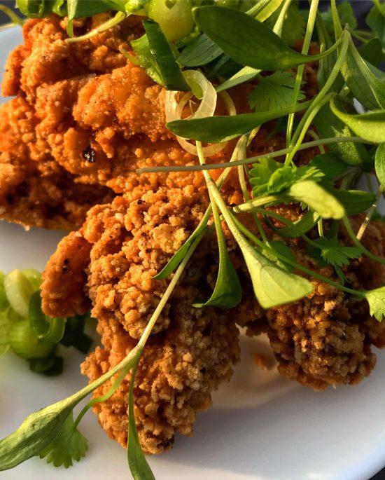 Chicharrónes de Pollo or Fried Chicken at Gambas Restaurant, Bristol, UK