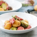 Roasted Kielbasa, Potatoes and Brussels Sprouts