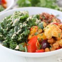 Mediterranean Roasted Rainbow Vegetable Bowl