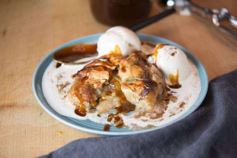 Grandma's Apple Dumplings with Caramel Sauce