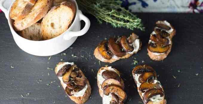 Goat Cheese and Mushroom Bruschetta