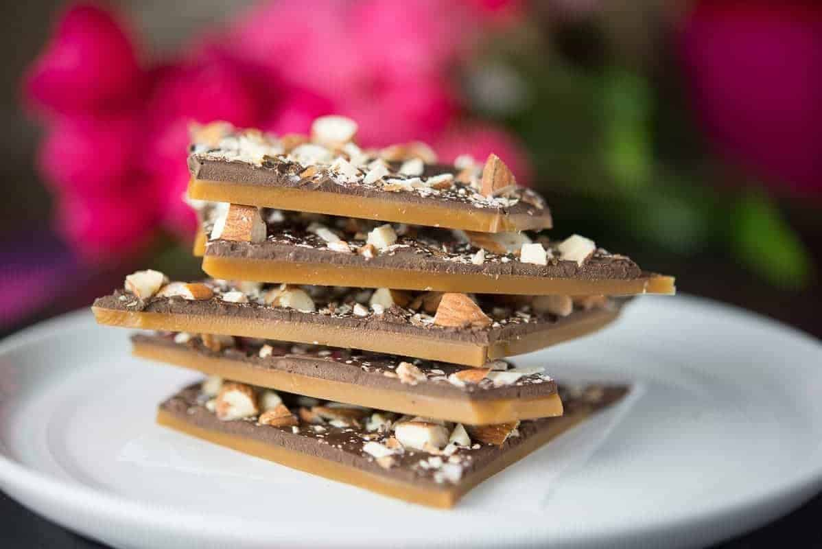Butter Toffee with Roasted Almonds