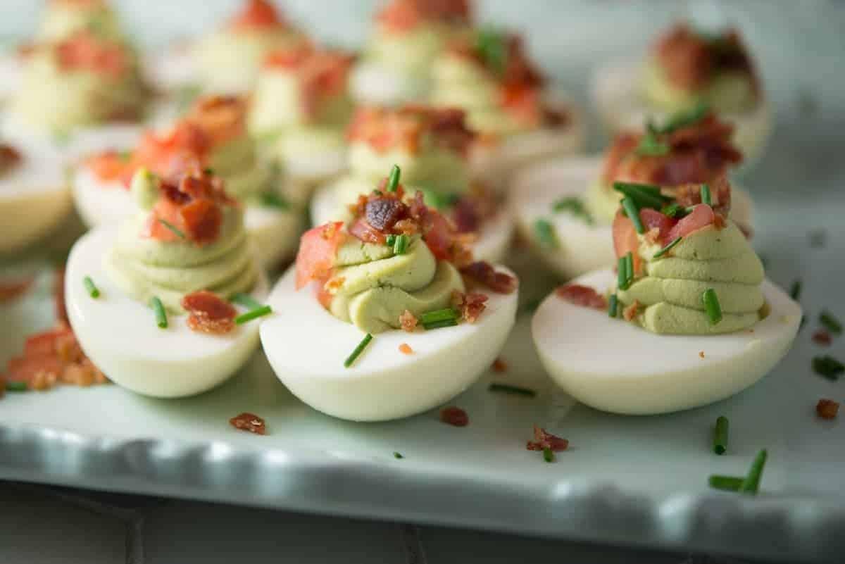 Green Deviled Easter Eggs