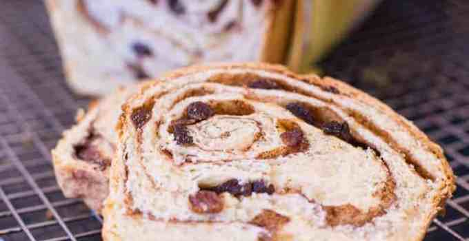 The BEST Cinnamon Raisin Swirl Bread