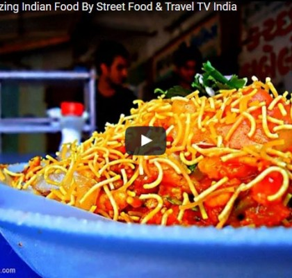 Bhel Making. Street Food India. Popular Snack.