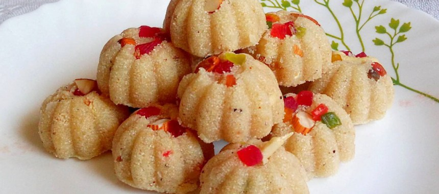 Rava Coconut Ladoo Recipe | Indian Sweet Recipe | Coconut Laddu