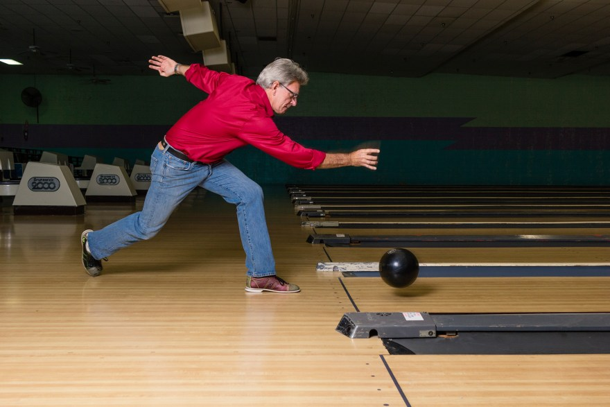 Host of Food Over 50, David Jackson, goes bowling to earn what he eats