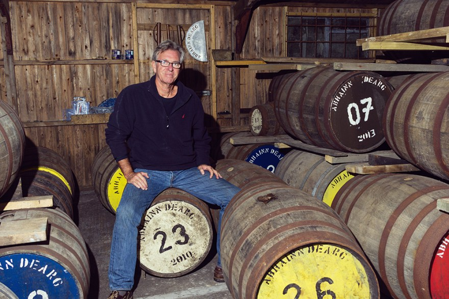 David Jackson in the barrel room at Red River Distillery in Scotland
