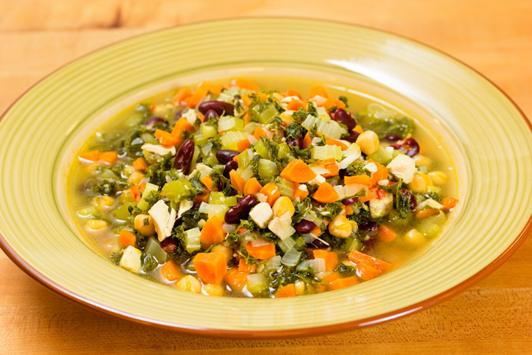 Almost chicken soup as prepared by David Jackson on Food Over 50