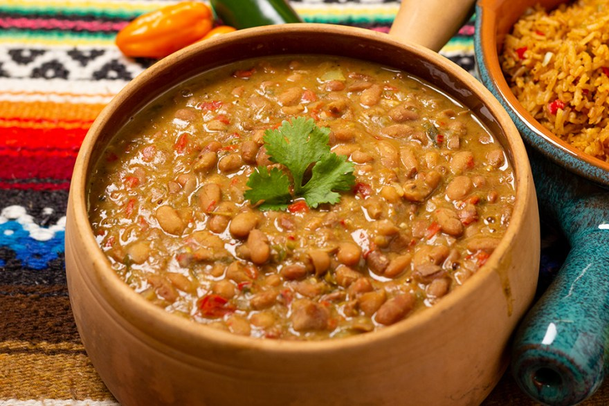 Frijoles pintos picantes, Fod Over 50 style