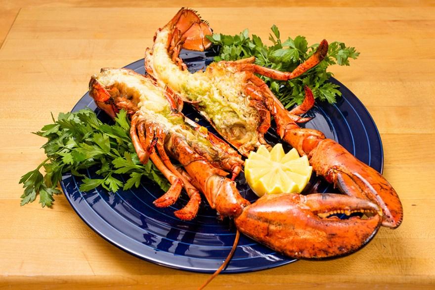 Grilled Lobster with Olive Oil & Lemon