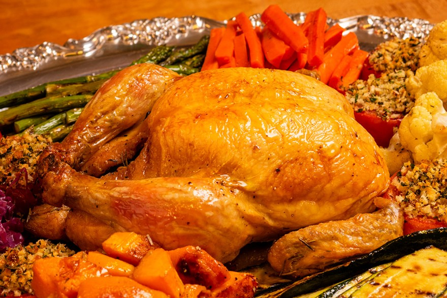 Herb Roasted Chicken for Poulet Jardin