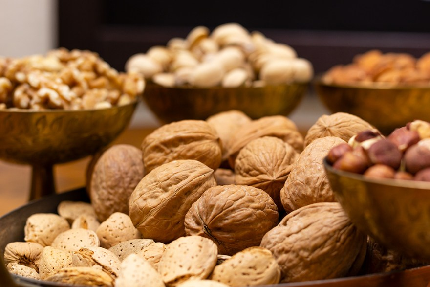Nuts are a good source of fiber