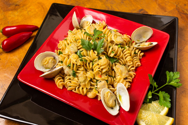 Carb dish pasta vongole as prepared by Food Over 50