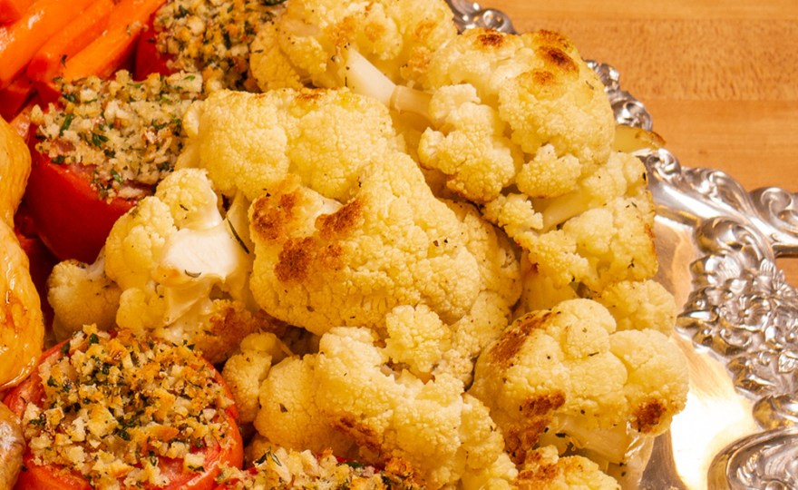 Roast Cauliflower for Poulet Jardin