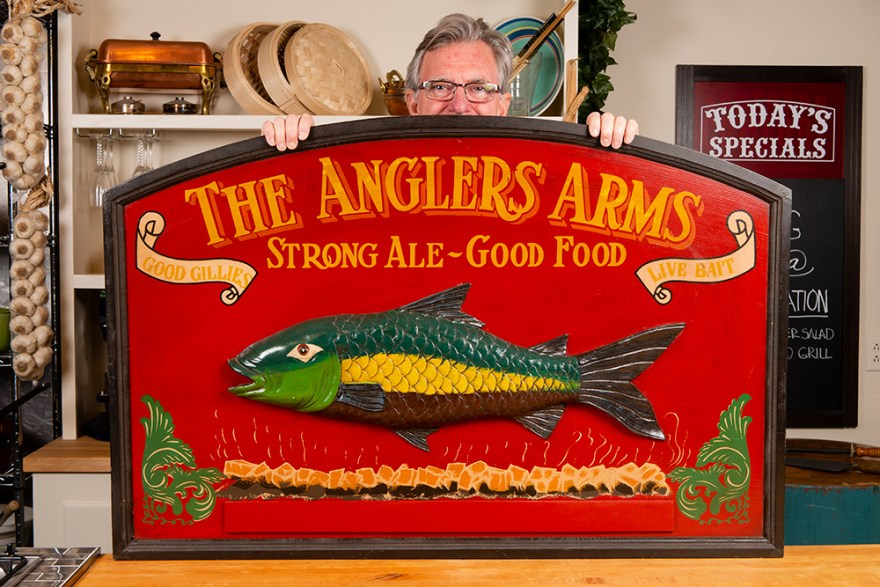 Anglers Arms signage on the Food Over 50 set