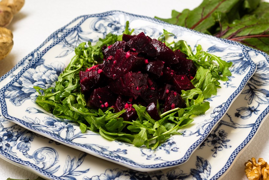 Beet and ginger salad food over 50 style