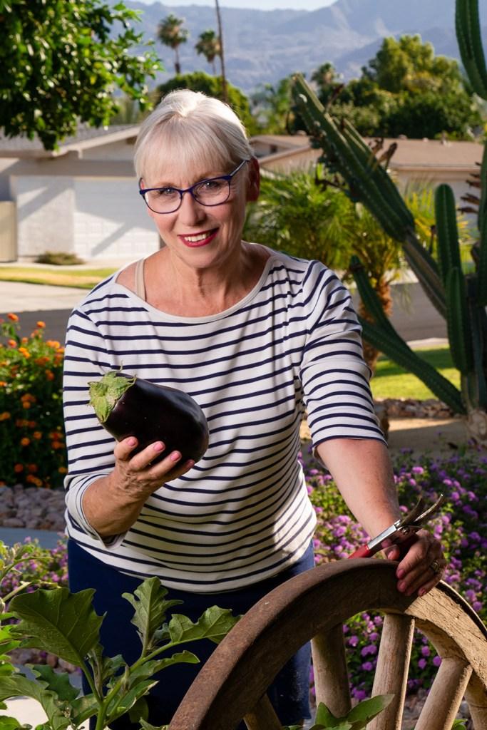 Dietician Elizabeth Kelsey in her home garden