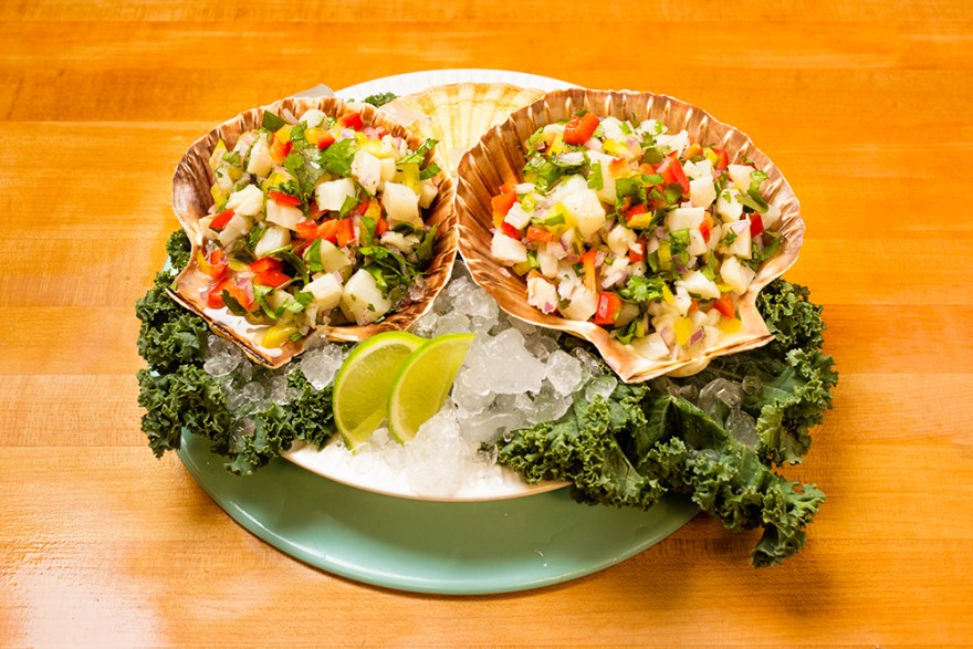 Pollock ceviche food over 50 style
