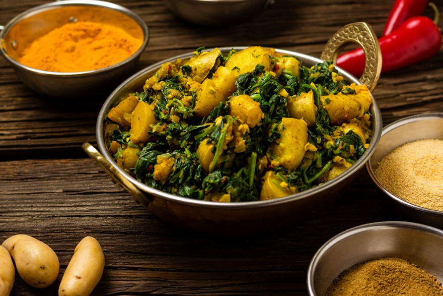 Saag aloo from the spices of life