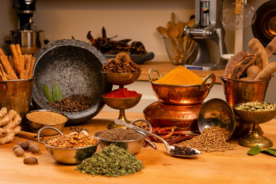 Spice arrangement on Food Over 50