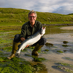 David with sea trout in Scotland