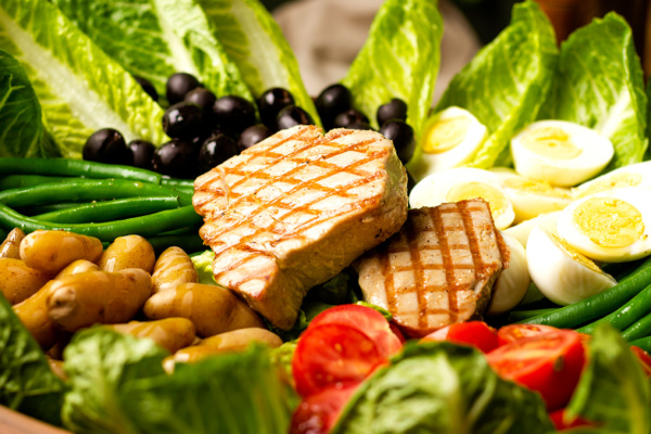 Classic salad nicoise as prepared by Food Over 50