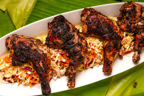 Jerk chicken recipe as pepared by Food Over 50
