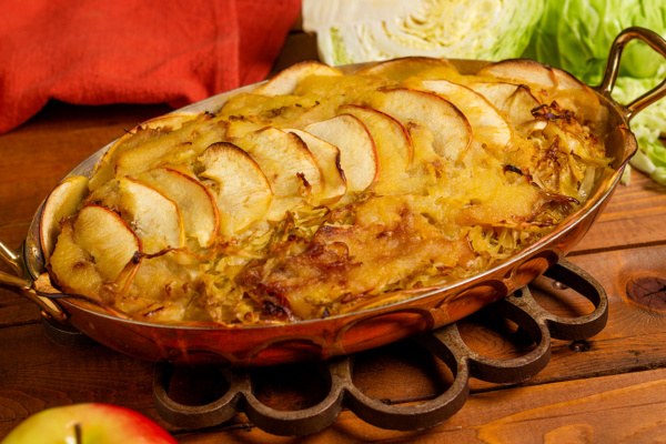 Reduced sodium quick kraut casserole recipe as prepared by Food Over 50