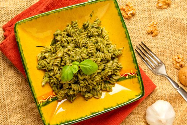 Quinoa fusilli as prepared by Food Over 50