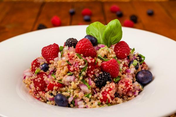 Fiber rich quinoa salmagundi recipe as prepared by Food Over 50