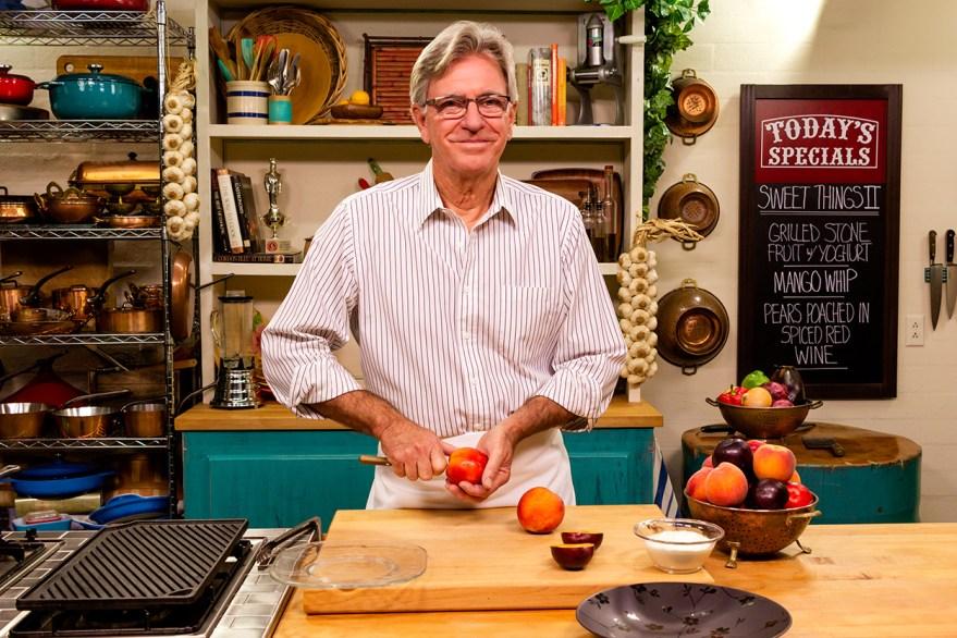 Food Over 50 host David Jackson prepares grilled stone fruit
