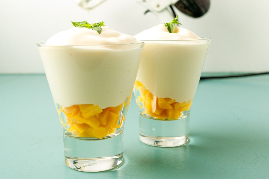 Mango whip dessert as prepared by Food Over 50