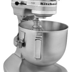 Kitchen Aid Silver Rolling Cart For Kitchenaid Ksm500pssm Pro 500 Series 10 Speed 5 Quart Stand Mixer Metallic Home Mixers