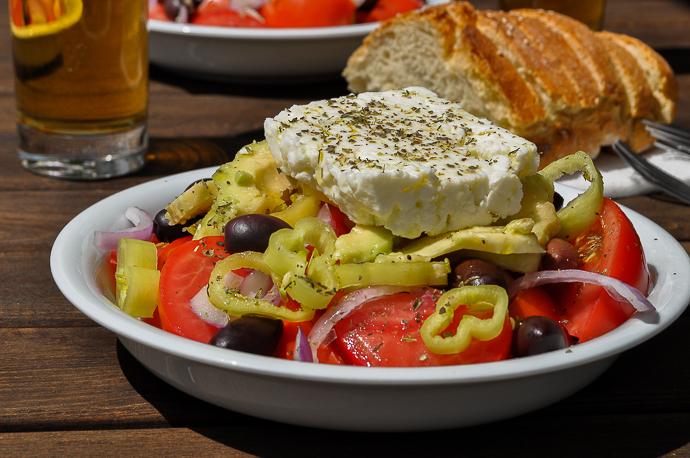 Greek salad my favorite mediterranean raw food recipe food recipes hq i knew this salad well before our trip to greece however in the land of jacket potatoes and caesar salads i had probably forgotten how tasty can be the forumfinder Image collections