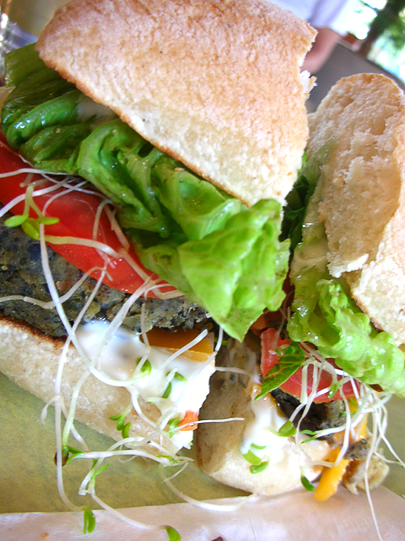 A solid veggie burger with good flavor and texture. (Photo: lara604 on Flickr.)