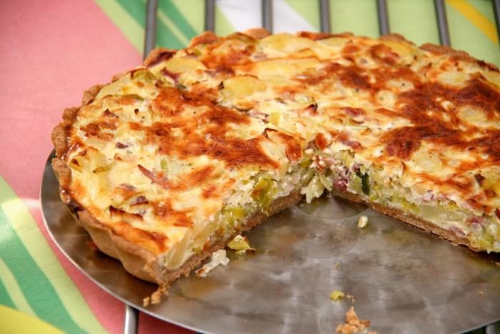 Pancetta and Cilantro Quiche Recipe