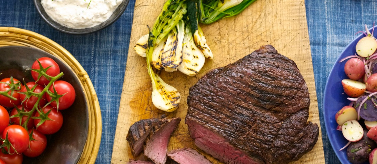 London Broil with Creamy Horseradish Sauce Recipe