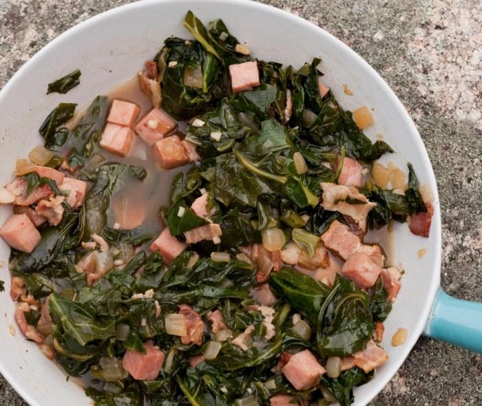 Pork Powered: Collard Greens With Ham And Bacon Recipe