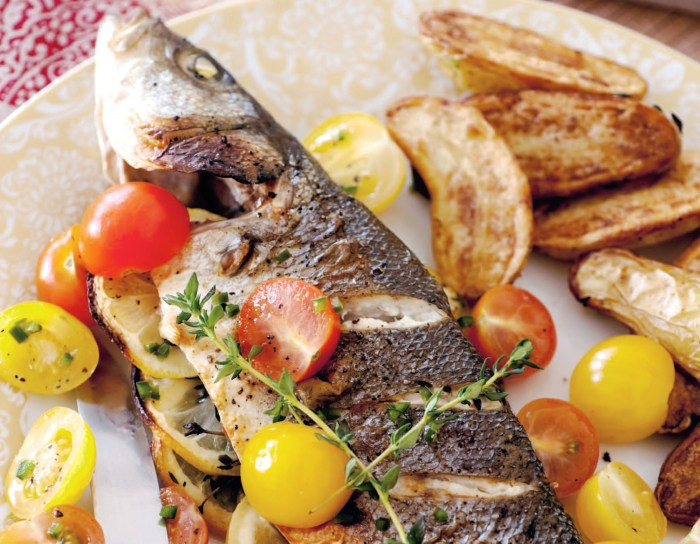 From The Grill Of Mark Bittman: Greek-Style Fish With Marinated Tomatoes Recipe