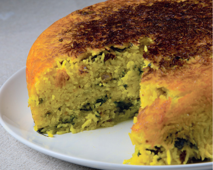 Tahchin Time: Persian Spinach Upside-Down Rice Recipe