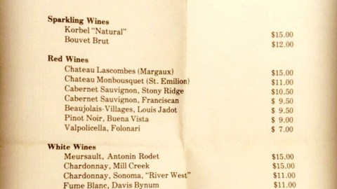 1977 Wine List Reveals That Restaurants Made Waaaaaaay Less Money On Wine In 1977
