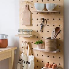 Kitchen Pegboard Pantry Shelves Easy Decor Upgrade Get A Better Food Republic Designer Nikki Kreis Of Kreisdesign Created Sturdier Slightly Chunkier Riff On The Fail Safe Using Thicker Cuts Plywood