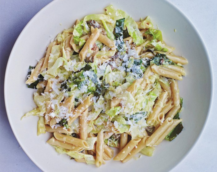 Creamed Savoy Cabbage With Mushrooms And Buckwheat Pasta Recipe Food Republic