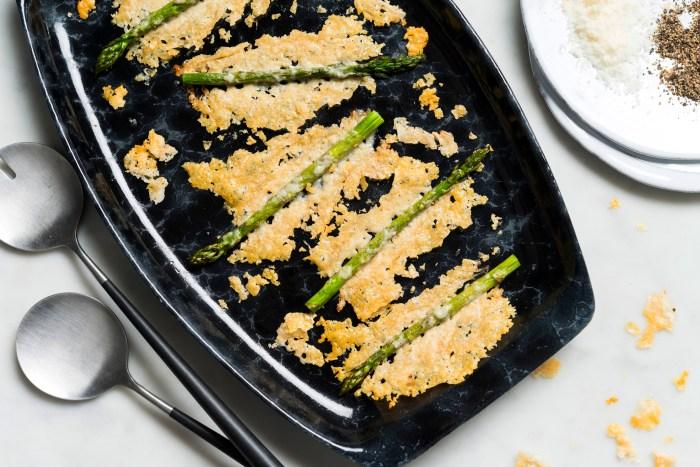 crunchy parmesan asparagus recipe