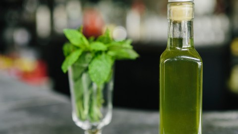 Blanched Mint Syrup: A Springtime Refrigerator Must. Here's How To Make It.